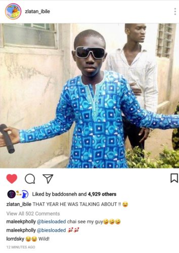 See Hilarious Throwback Pictures Olamide Sent To Zlatan